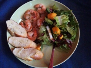Grilled Prawns with Mango Salad