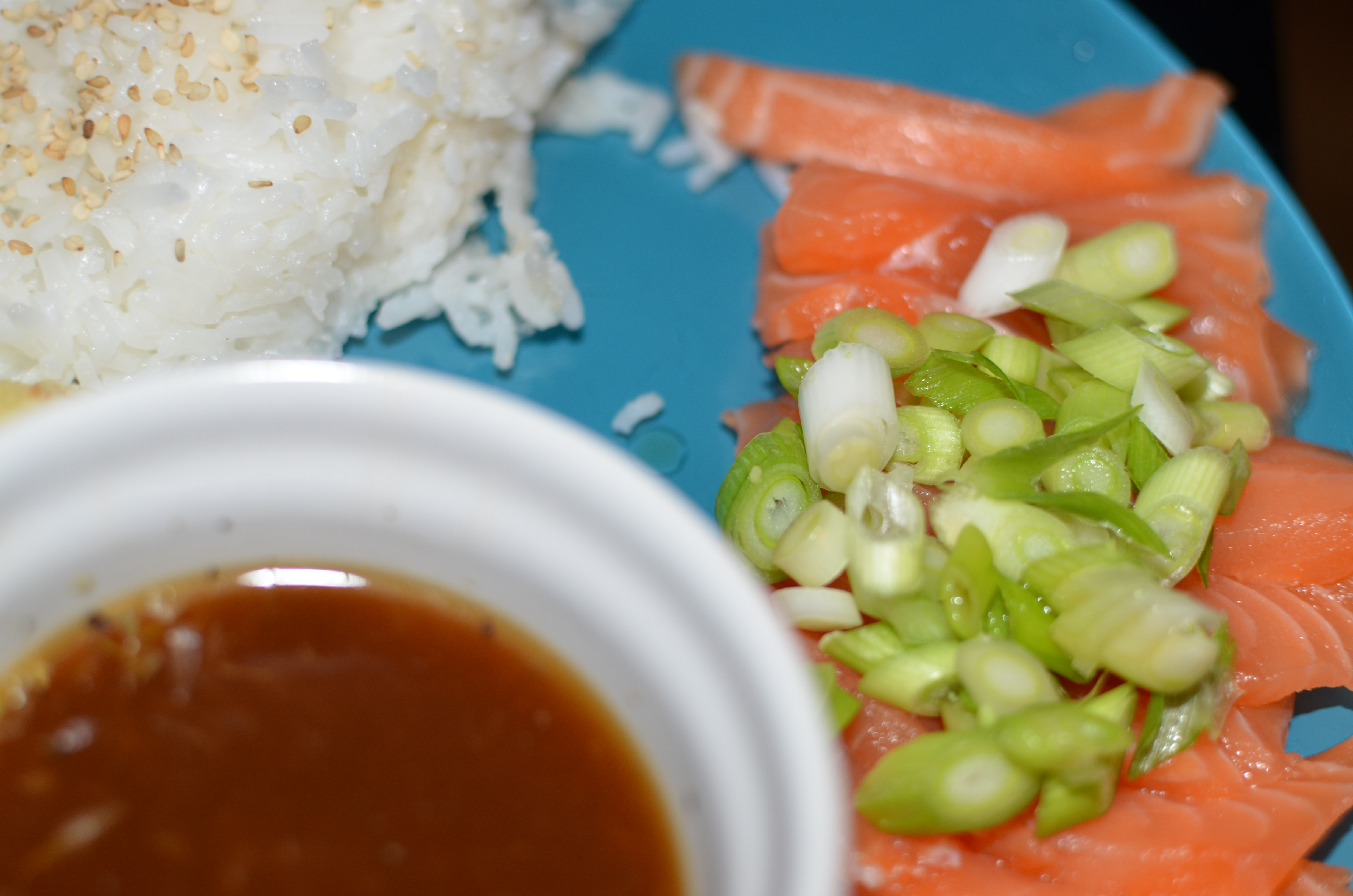 Trying my hand at sashimi across the oceans for Sashimi dressing